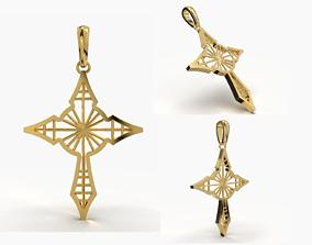 white-gold-pendant 3D print model JESUS CROSS GOLD PENDANT