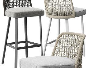 3D model Emma stools by Varaschin