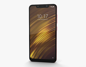 Xiaomi Pocophone F1 Rosso Red 3D model