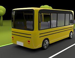3D model rigged Cartoon bus