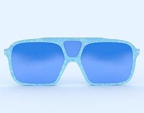 Sunglasses Blue Fancy Frame 3D printable model
