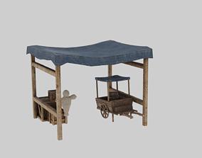 3D model Medieval Stall