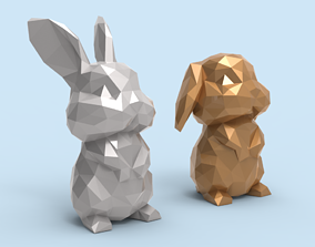 3D print model Low poly Bunny STL