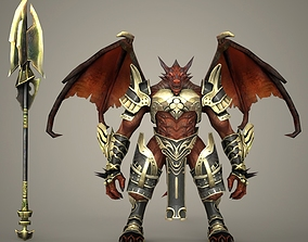 3D model Fantasy Monster Character with Weapon