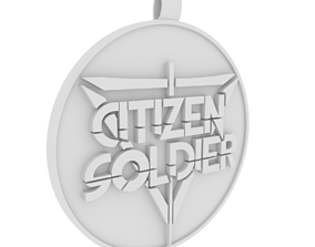 Citizen Soldier band necklet 3D print model