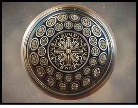 3D model Golden Mirror Pattern Material - PBR
