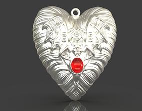Jewelry Vampire Heart Pendant 3D printable model