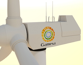 electricity 3D model wind turbine
