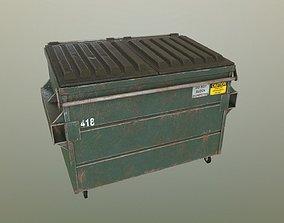 3D asset low-poly PBR Dumpster