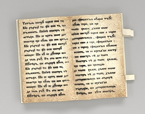book text 3D model