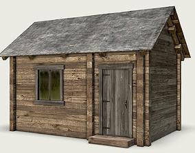 3D model Wooden Log Cabin PBR