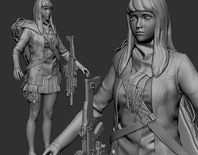 3D model Mercenaries Japanese School Girl