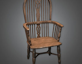 Chair 01 Antiques - PBR Game Ready 3D model