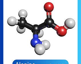 physics Alanine 3D Model C3H7NO2