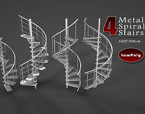 Metal Spiral Stairs 3D model