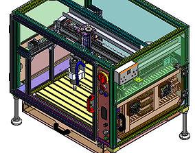 3D model cnc milling machine mini full design