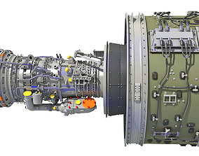 aeroplane 3D GTF Geared Turbofan Engine