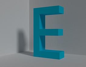 Letter E - font 3D asset