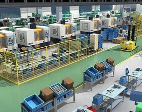 Factory Interior Scene 3D