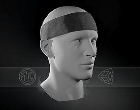 Black Headband 3D asset