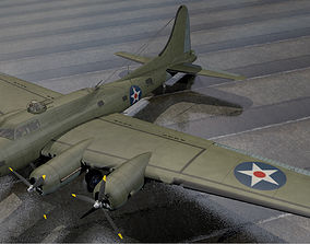 3D model Boeing B-17E Fortress