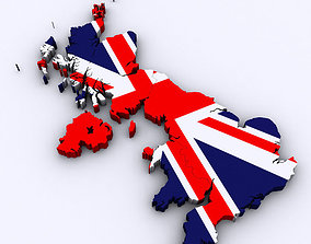 Map of the United Kingdom 3D