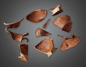 TRS - Ancient Broken Clay Pots 03 - PBR Game 3D model