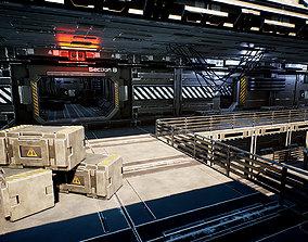 Modular Sci-Fi Station 3D asset