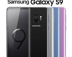 phone 3D model Samsung Galaxy S9 ALL Colors