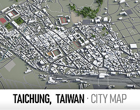Taichung- city and surroundings 3D asset