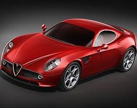 3D Alfa Romeo 8C Competizione MidPoly