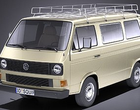 3D Volkswagen T3 Passenger 1979 - 1988 VRAY