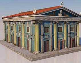3D model Classical greek building