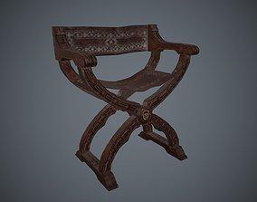 3D asset Antique Ancient Chair