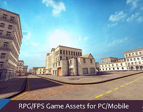 RPG FPS Game Assets for PC Mobile Buildings Set 3D model