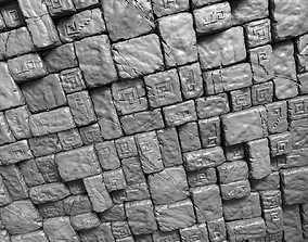 3 Tileable Stone Floor Tiles 3D asset