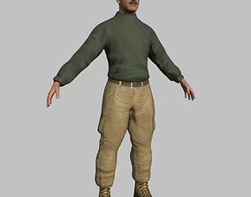 Rigged Sergeant - Maya Rig 3D asset