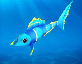 Cartoon fish05 Rigged Animated 3D model