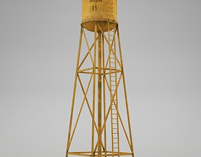 3D model Water tower 01