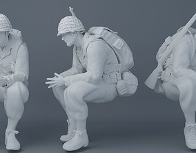 3D print model Sitting soldiers