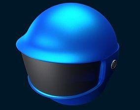 3D Motorcycle helmet headpiece
