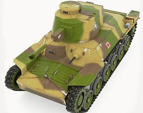 Tank Type 97 Chi-Ha 3D asset