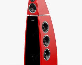 Meridian DSP8000 Red 3D model