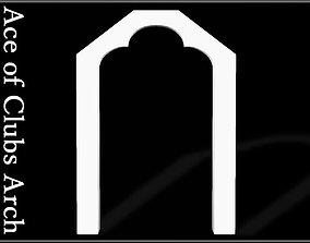 Ace of Clubs Arch 3D asset