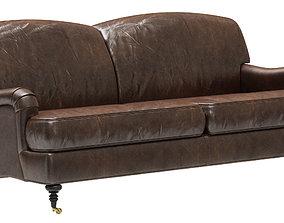 3D model Restoration Hardware Barclay Leather 2-seat Sofa