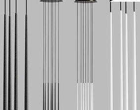Slim lamps 3D asset