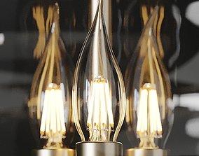 Ballard Designs Mila Blown Glass Pendant 3D
