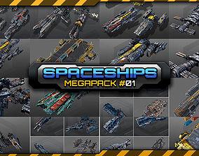 vehicle 3D model Spaceships Megapack 01