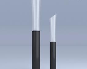 Long Vases Glass 3D