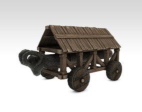 3D asset Medieval battering ram